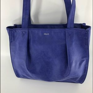 Relic blue leather shoulder bag